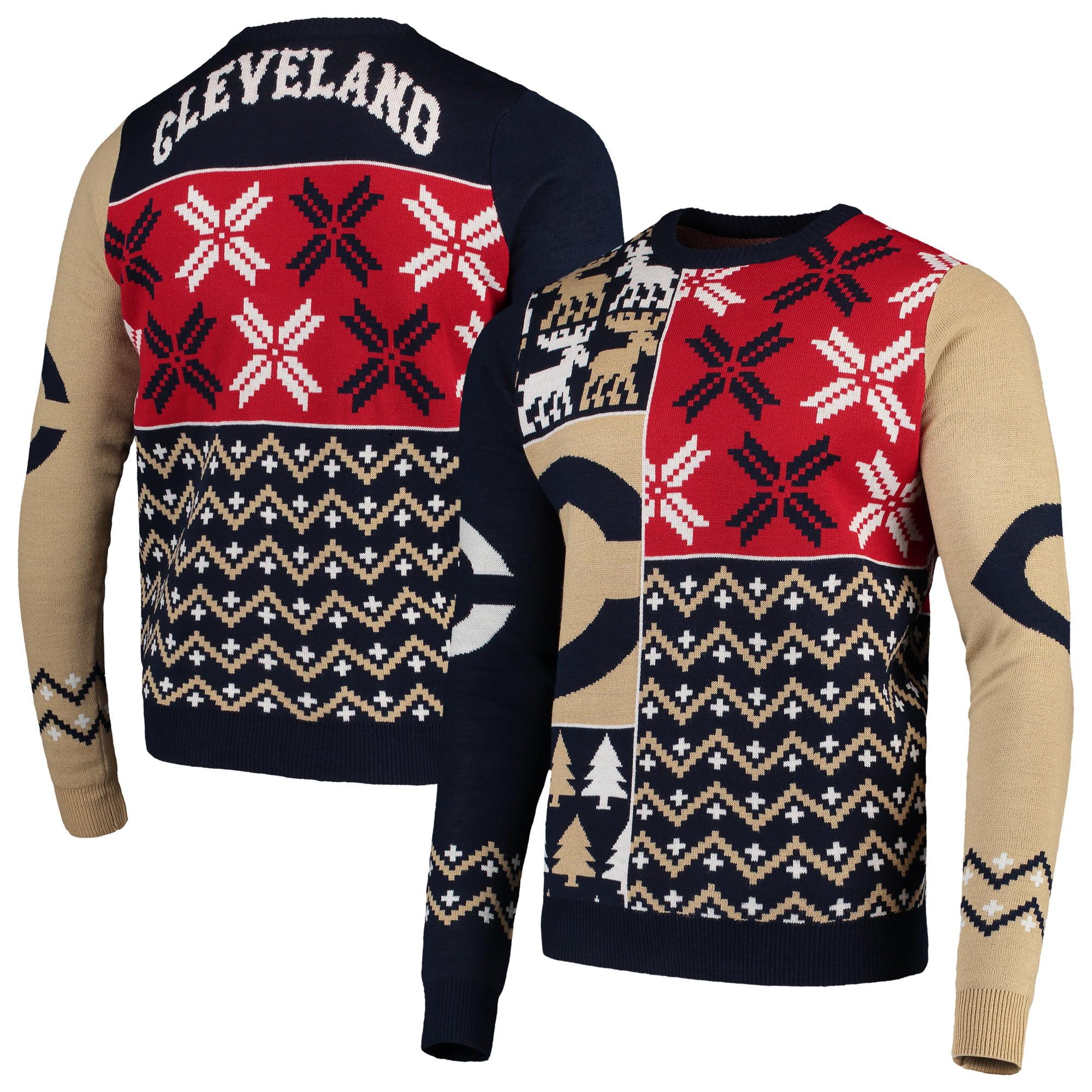 Cleveland Indians Retro Sweater - Navy
