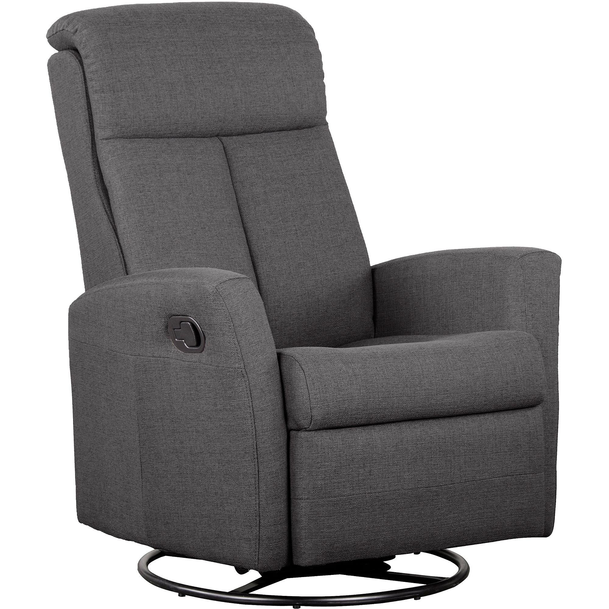 SherMag Motion Glider Swivel Recliner, Fabric, Charcoal by Shermag