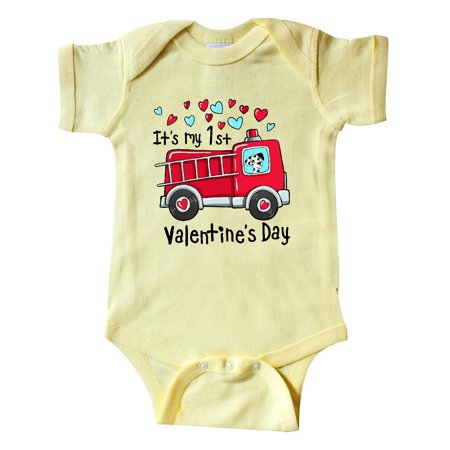 Garbage Truck Halloween Costume (It's My 1st Valentine's Day Fire Truck with Cute Dalmatian Infant)
