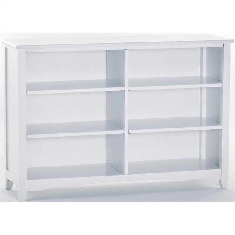 Hillsdale School House Horizontal Bookcase, White by Hillsdale