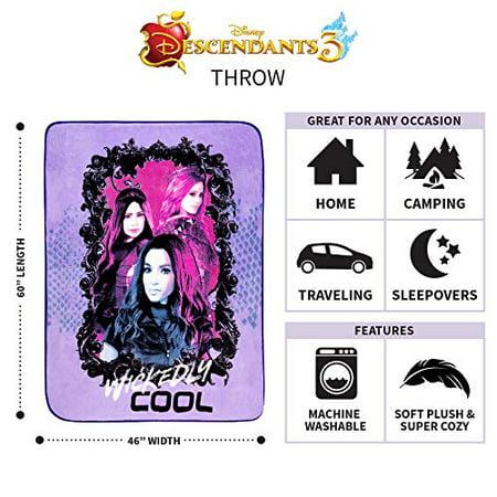 46 x 60 Franco Kids Bedding Super Soft Plush Throw Disney Descendants 3