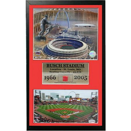 MLB Busch Stadium Game Used Frame, 12x18