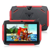 Excelvan Q98 Kids Tablet, Children Tablet with Dual Camera WiFi USB 7 Inch Android 9.0 Tablet with 1GB RAM 16GB ROM, Children Kids Silicone Case, Education Entertainment Parental Control for Kids