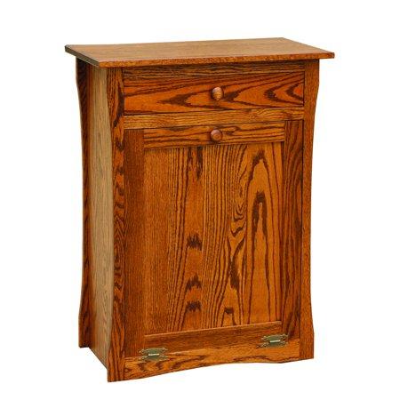Furniture Barn Usa Oak Tilt Out Trash Recycling Bin With Drawer