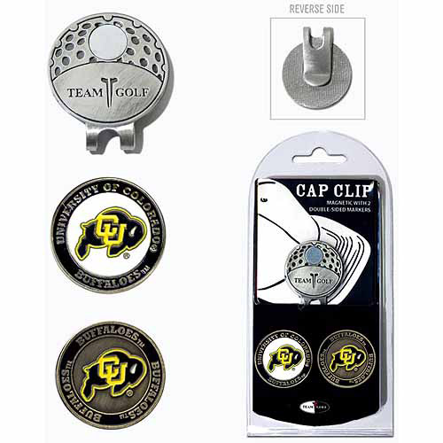 Team Golf NCAA Colorado Cap Clip With 2 Golf Ball Markers