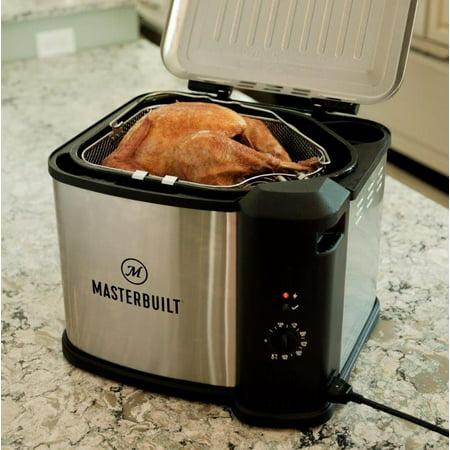 Masterbuilt 10 Liter XL Electric Fryer, Boiler, Steamer in Silver