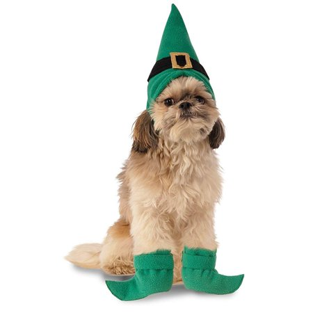 Elf Hat w/ Boot Cuffs Dog Costume](Elf Shoes And Hat)
