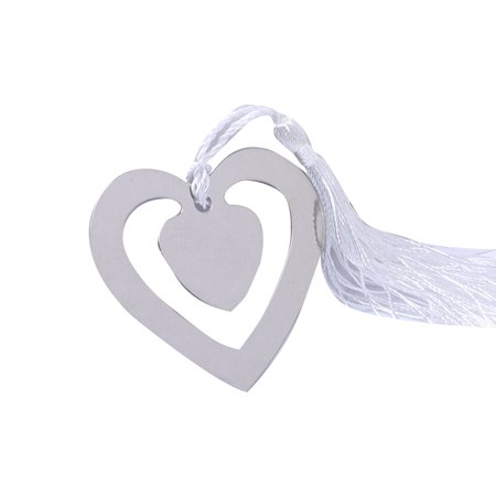Cute Cartoon Heart Shape Paper Clip Metal Bookmarks Book Memo Label Gift Student Stationery Wedding Decoration](Cute Halloween Bookmarks)