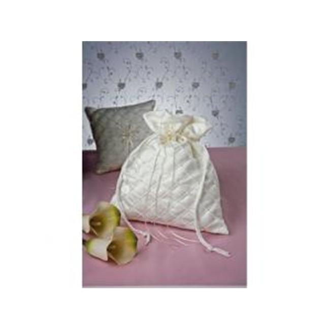 Ivy Lane Design 10-6085/WHT Swiss Dot Money Bag- White