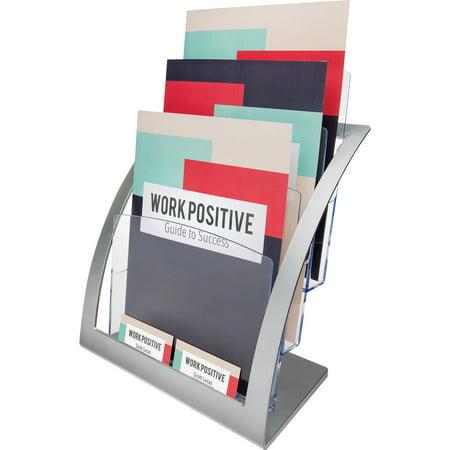 Three Tier Desktop Literature Holder (deflecto Three-Tier Magazine Holder, 11 1/4w x 6 15/16d x 13 5/16h,)