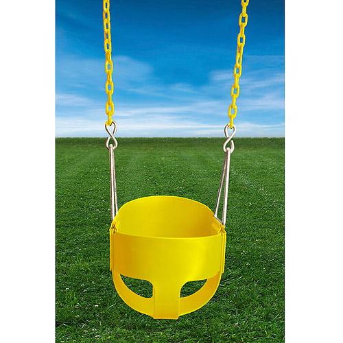 Gorilla Playsets Full Bucket Swing, Yellow