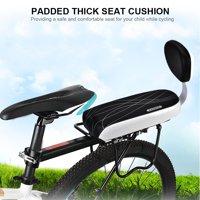 Anauto Bike Bicycle Child Back Rear Seat Cushion Backrest Armrest Footrest Set Accessory, Bicycle Back Seat, Bicycle Child Rear Seat