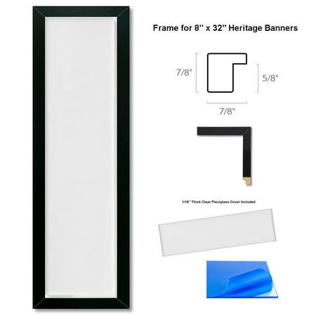 8x32 Wood Heritage Banner Frame - Pennant Frames