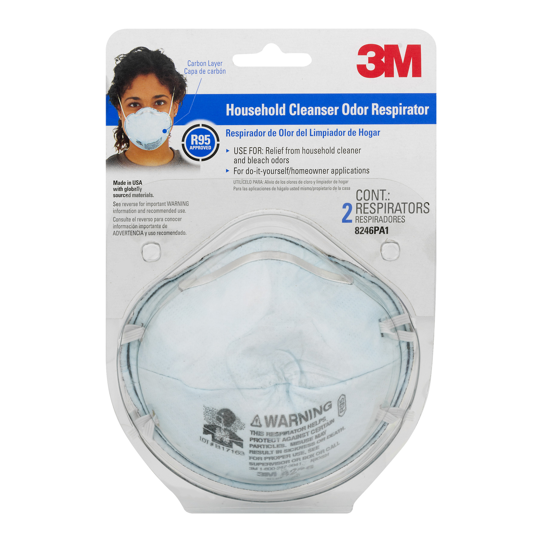 3M Household Cleanser Respirator - 2 CT2.0 CT