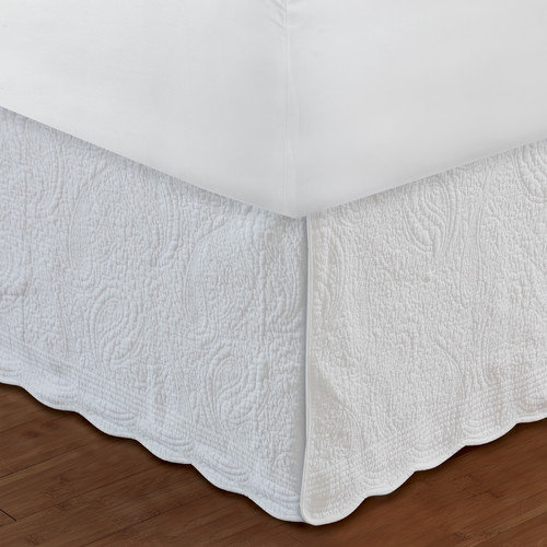 Greenland Home Fashions Paisley Quilted 136 Thread Count Bed Skirt