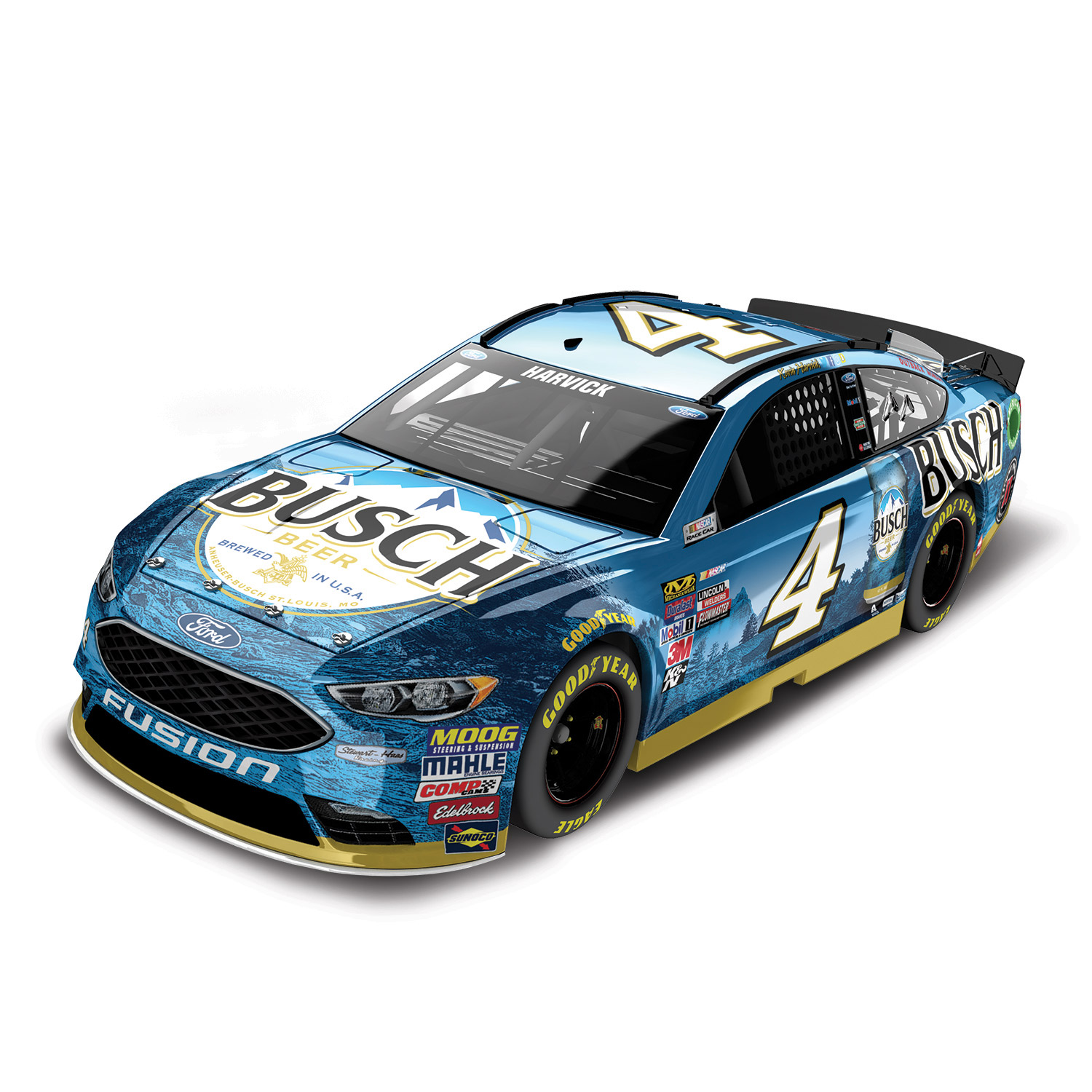 Action Racing Kevin Harvick 2017 #4 Busch 1:24 Monster Energy Nascar Cup Series Color... by Lionel LLC