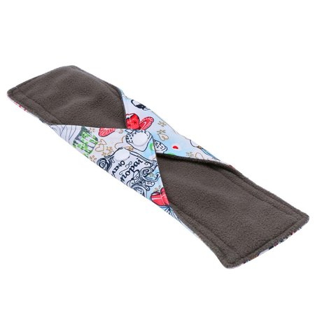Ejoyous 10 Types Reusable Washable Bamboo Charcoal Fiber Cloth Menstrual Sanitary Mama Pad Panty Liner , Cloth Menstrual Pad, Bamboo Charcoal Pad - image 2 of 7