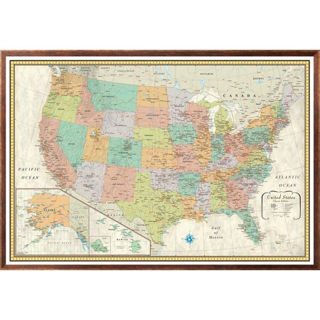 32x50 rmc united states usa classic push pin travel wall map foam