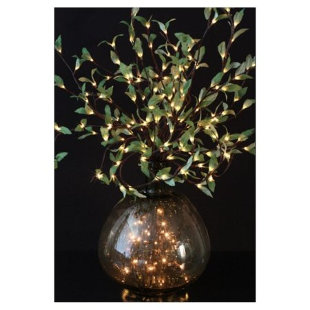 Led Flowers (Light Garden 01181 - 96 LIGHT LEAF WILLOW BRANCH W/ LEDS Home Office Flowers in Pots Vases and)