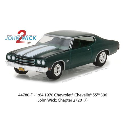 GREENLIGHT 1:64 HOLLYWOOD SERIES 18 - JOHN WICK CHAPTER 2 - 1970 CHEVROLET CHEVELLE SS 396 44780-F