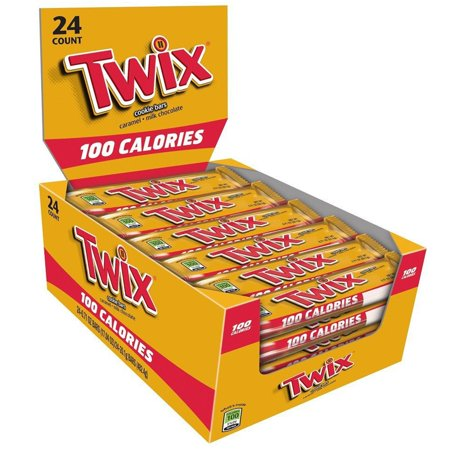 Twix Caramel Cookie 100 Calorie Candy Bars, 0.71 Oz., 24 Count