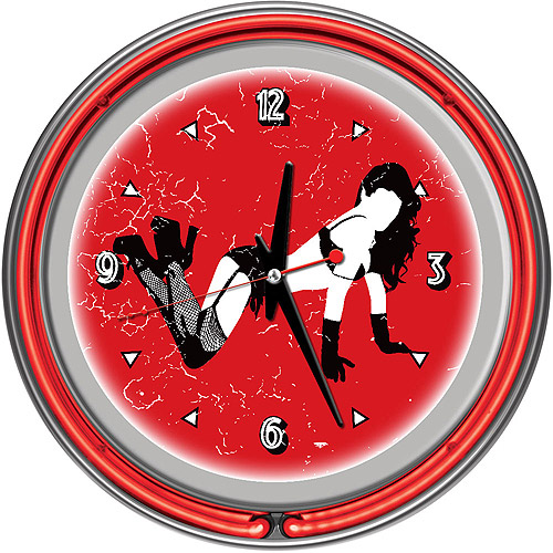 "Shadow Babes, B Series Red 14"" Neon Wall Clock"