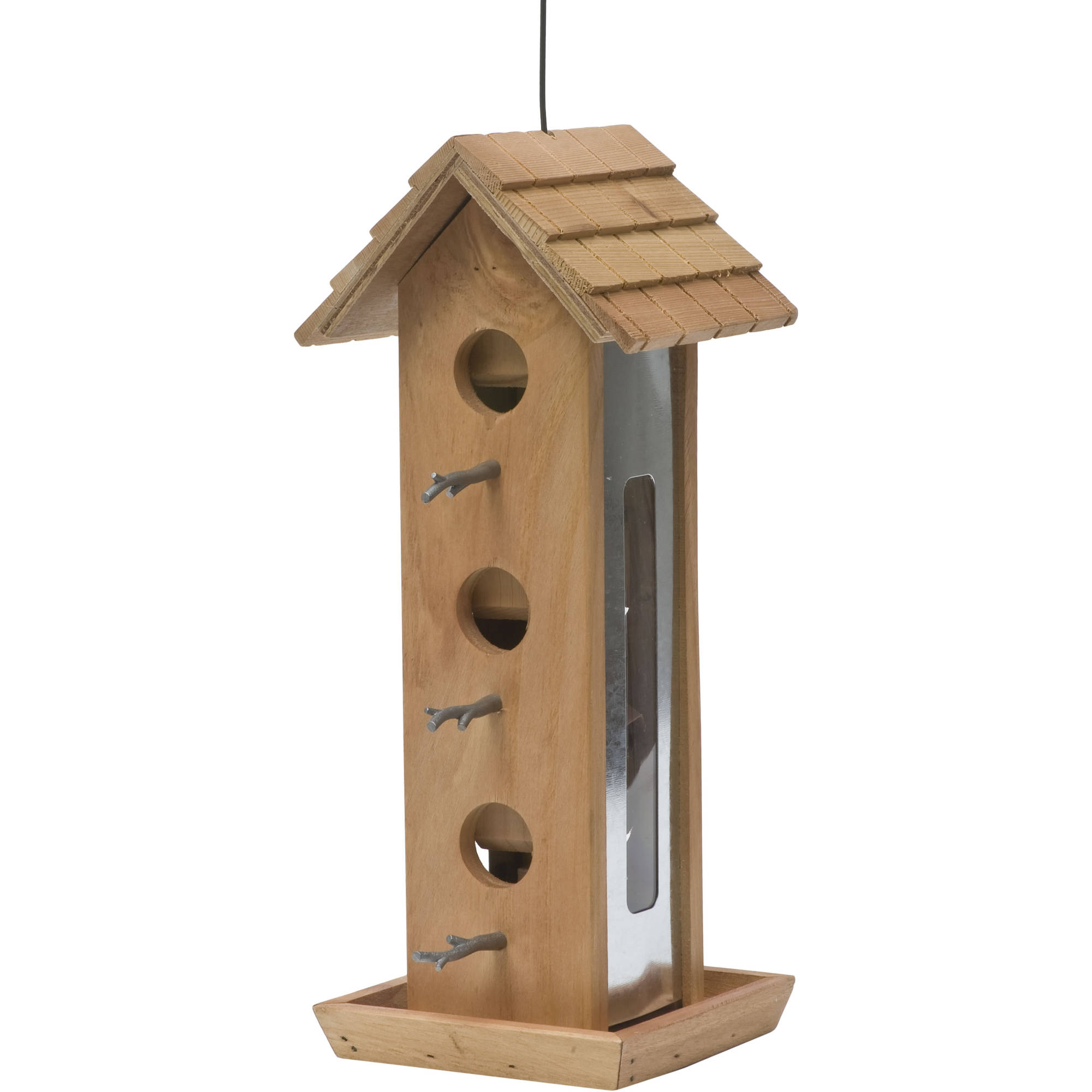 Perky-Pet 2 lb Tin Jay Wood Wild Bird Feeder