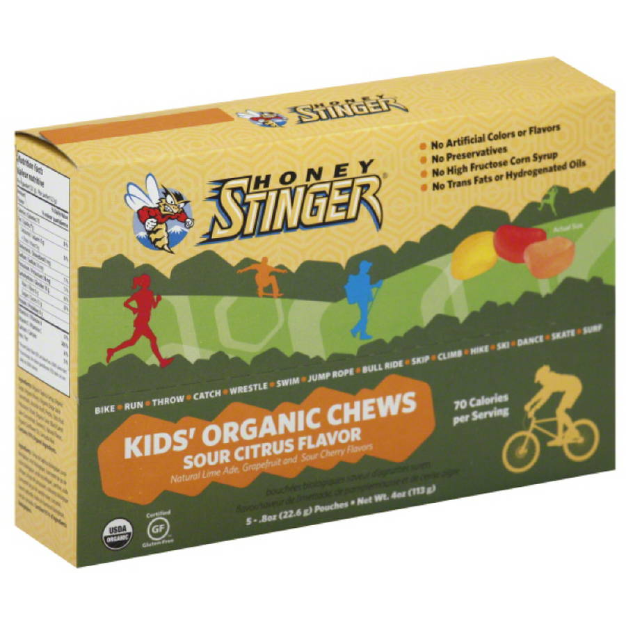 Honey Stinger Sour Citrus Flavor Kids' Organic Chews 5 count- .8z