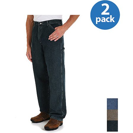 Wrangler - Mens Carpenter Jeans, 2 Pack Your Choice