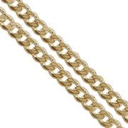 """Gold Plated Curb Chain 5.9mm New Solid Cuban Link Necklace 30"""""""