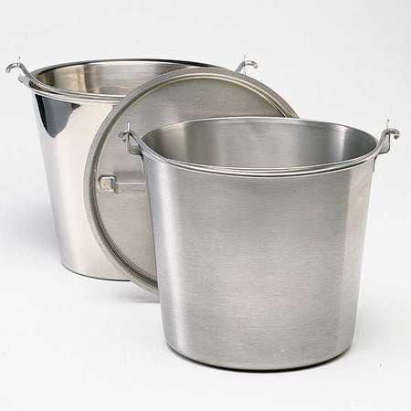 GRAINGER APPROVED Hospital Bucket,14-3/4qt,Stainless Steel, 58160