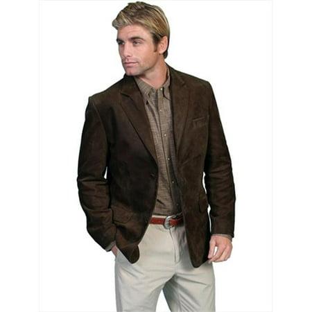 Scully 401-63-M Mens Leather Wear Western Blazer, Brown, Medium