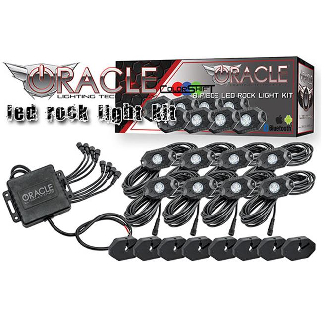 Oracle Lighting 5797-333 Oracle Bluetooth Colorshift Underbody Rock Light Kit - 8 Piece