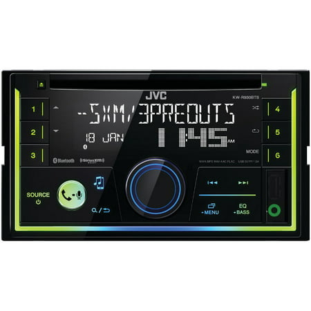 Dir Cd (JVC Mobile KW-R930BTS Double-DIN In-Dash AM/FM CD Receiver with Bluetooth & SiriusXM Ready )