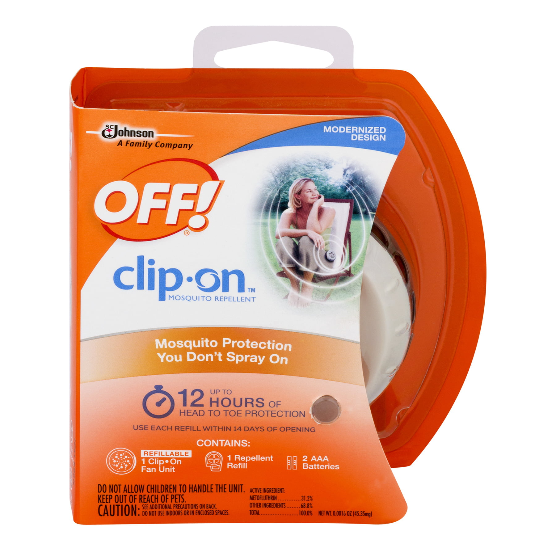 Click here to buy OFF! Clip-On Mosquito Repellent, 16oz by SC Johnson.
