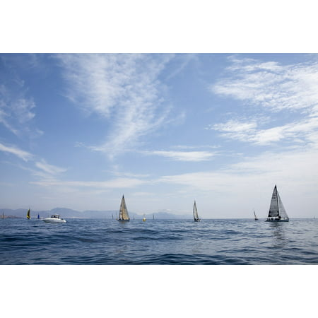 Canvas Print Regatta Sea Boats Cruises Sailboats Stretched Canvas 10 x