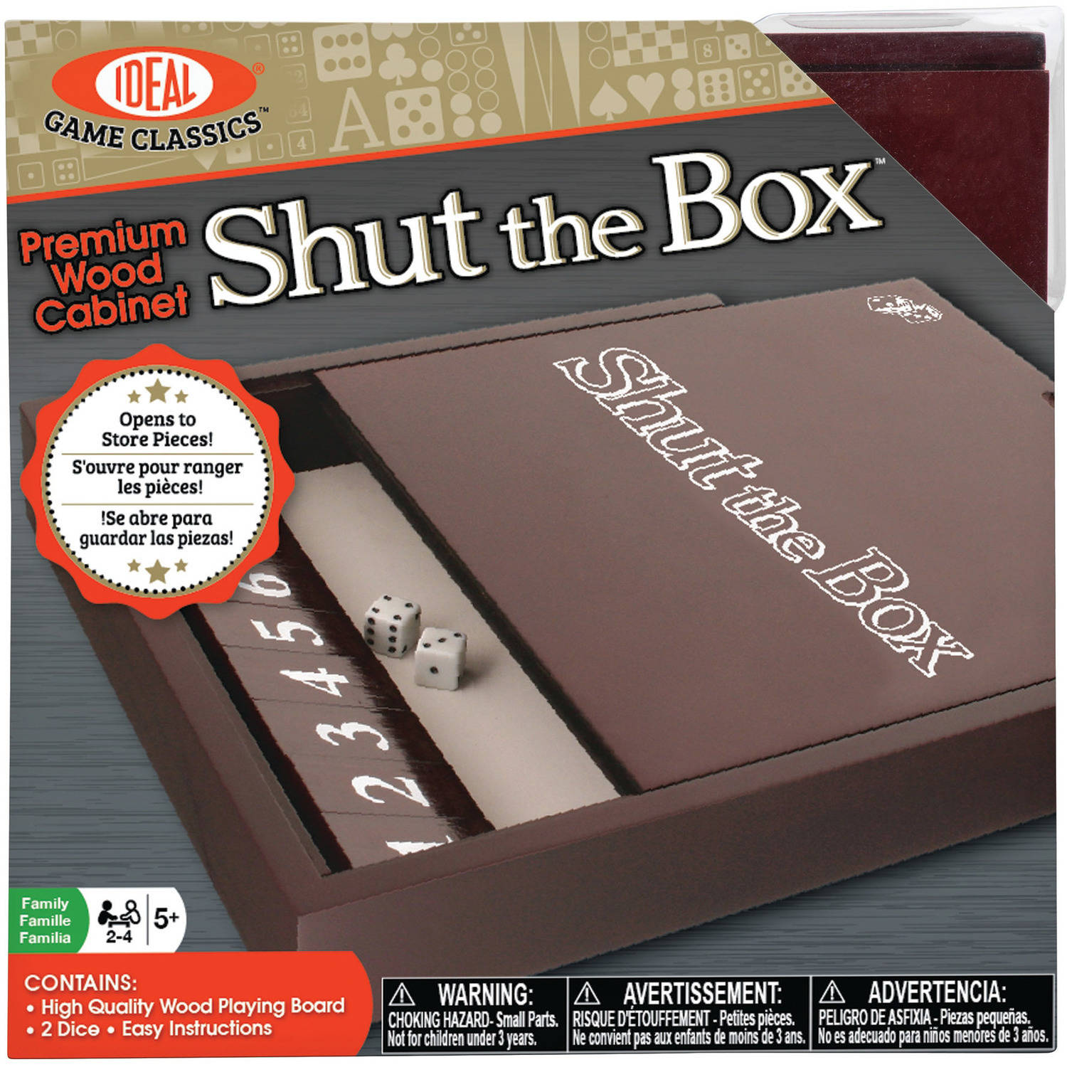 Ideal Premium Wood Cabinet Shut the Box