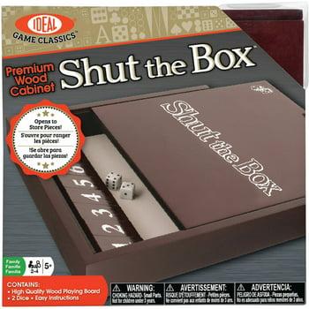 Ideal Premium Wood Cabinet Shut the Box Board Game