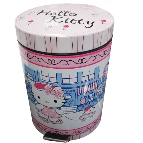 Hello Kitty 'Bonjour Kitty' Metal Step Can