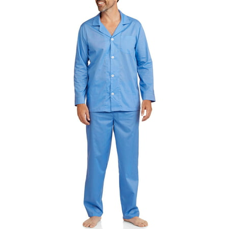 Fruit of the Loom Men's and Big Men's Long Sleeve, Long Pant Pajama Set