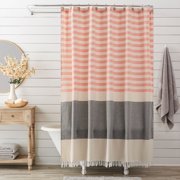 Costal Stripe & Fringe Shower Curtain by Better Homes & Gardens Image 1 of 4