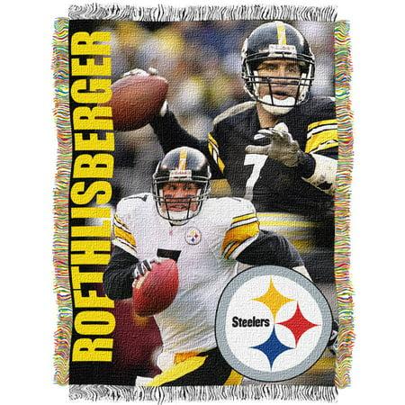 "NFL 48"" x 60"" Players Series Tapestry Throw, Ben Roethlisberger"