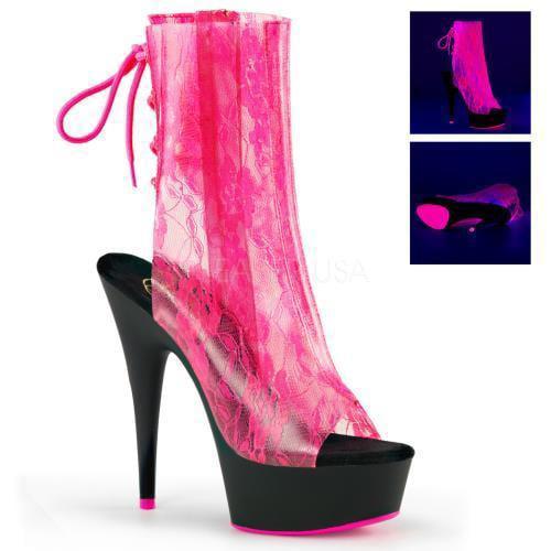 DEL1018LA/NHPTPU/B Pleaser Platforms Ankle/Mid-Calf Boots Boots Boots Size: 6 beec80