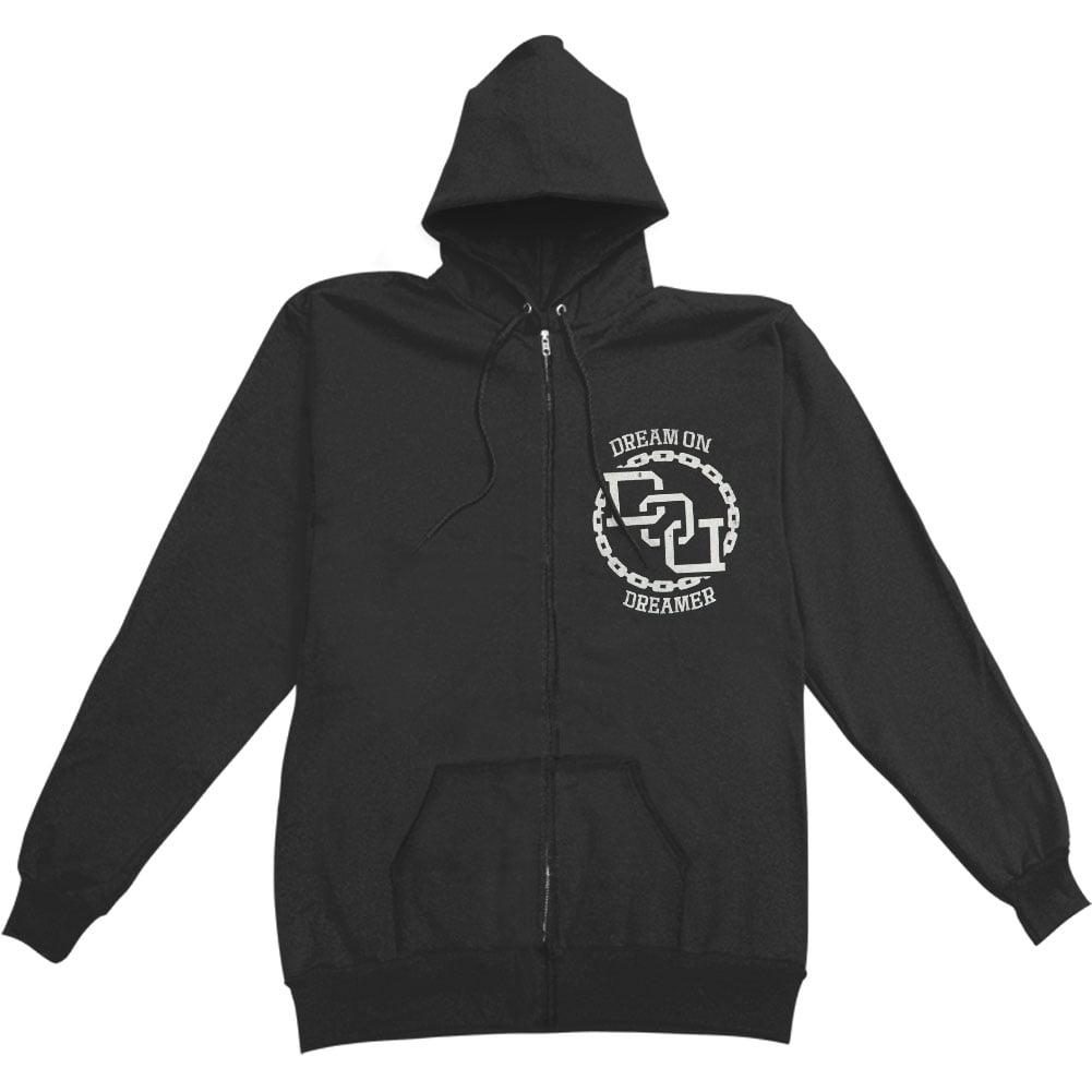 Dream On Dreamer Men's  Living Dead Zippered Hooded Sweatshirt Black