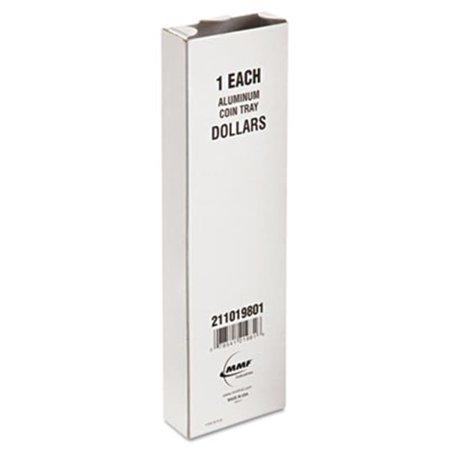 MMF Industries 211019801 - plateau-monnaie, aluminium, 8 .5 W x 8 x 0,2 d 1h, Gris - image 1 de 1