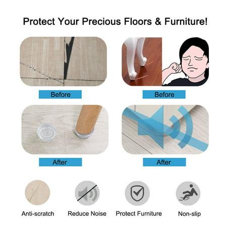 5pcs Rubber Feet Non-slip Leg Pad Anti-scratch Table Protector D16.7x10xH6.5mm - image 3 of 7