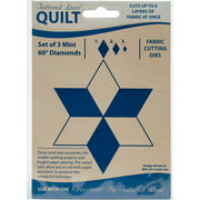 Tattered Lace Quilt Die Cut-Mini 60 Degree Diamonds Set Of 3