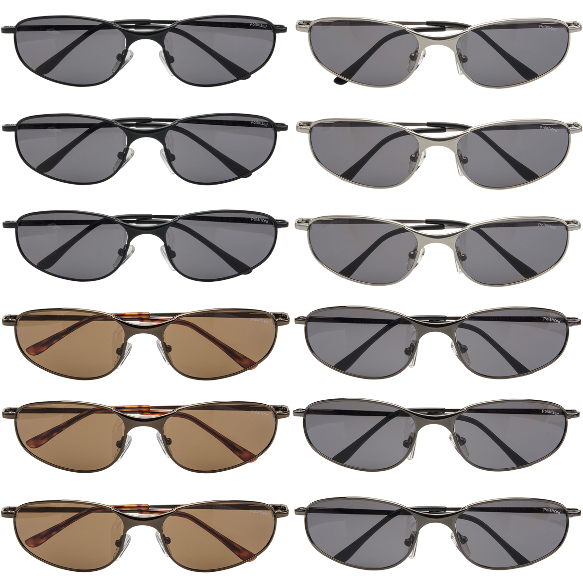 RV Sports Sunglasses Polarized 12 Pairs Extreme Polarized Assorted 100% UV Protection for Mens Womens