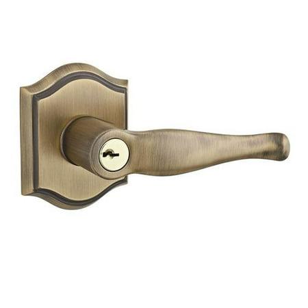 Baldwin Decorative Keyed Door Lever with Traditional Arch (Baldwin Door Levers Best Price)