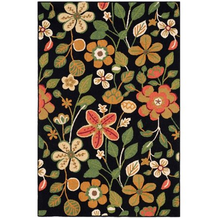 Safavieh Four Seasons 5' X 7' Hand Hooked Polyester Pile Rug in Black - image 1 de 2